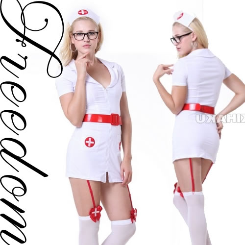2b92cb8682afa □□Costume play fashion□□ Angel sexy nurse clothes of healing! ☆It is the nurse  costume set which the strongest sexy can dress well with with supermini ...
