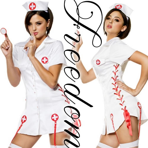 7021e0923e566 □□Costume play fashion□□ Angel sexy nurse clothes of healing! ☆A side  laceup super sexy design! It is the nurse costume set which the strongest  sexy ...