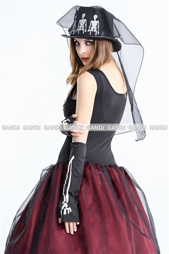 ??Costume play fashion?? Skeleton dress costume! ?I can dress it well in bone bone scalp lint cutely! It is dressy bride zombie costume of with hat ...  sc 1 st  Rakuten & w-freedom | Rakuten Global Market: Dressy bride zombie costume ...