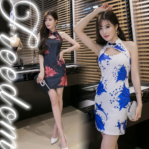 161682310 Qipao♪ ☆It is the popular halterneck China minidress which cute sexy can  dress well♪