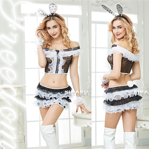 ef6bdf7f44a Be seen through bunny girl bunny bunny costume play lingerie sexy sexy  lingerie costume clothes uniform clothes sexy party event Halloween  Christmas ...