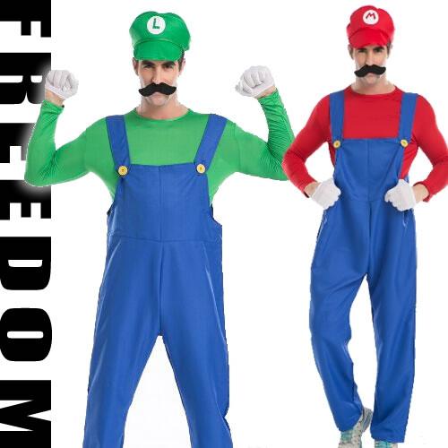 Mario men costume! ?Basic Koss of the global extreme popularity! It is menu0027s costume of Mario u0026 Luigi?  sc 1 st  Rakuten & w-freedom | Rakuten Global Market: Mario Luigi Mario Brothers men ...