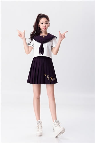 9ca2fc2fea6a Short-sleeved middy and skirt costume ☆ freedom sale sale of sailor    pleated skirt with middy and skirt sailor uniform school uniform high  school girl JK ...