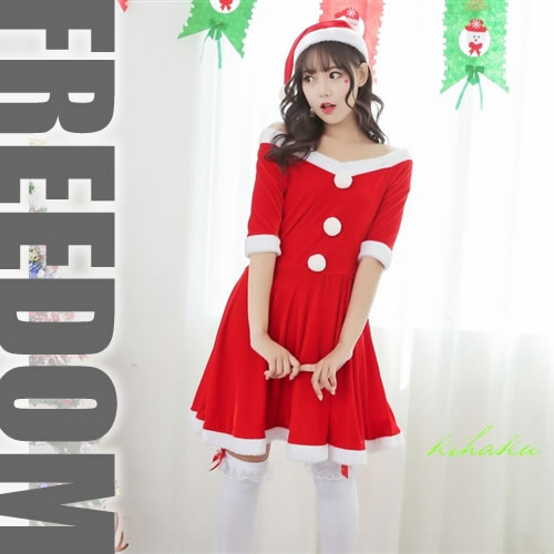 b41fb08aa36b It Is Santa Costume On Christmas When Sexy Can Dress It Well In Collar  Width Wide Cute System Dress-style Cutely?