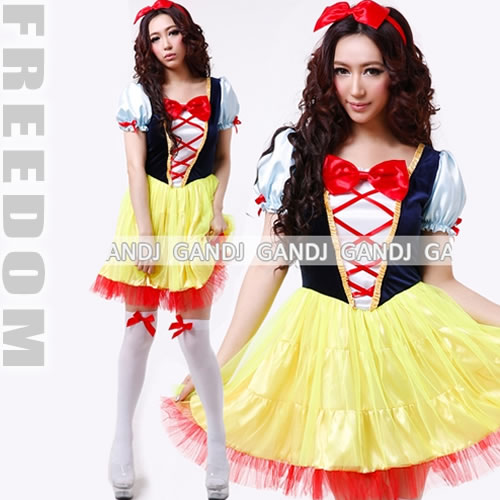 Halloween Costume 38.Costume Play Sexy Uniform Clothes Party Event Halloween Supermarket Low Price Snow White Princess Costume Play Costume Character Clothes Disguise