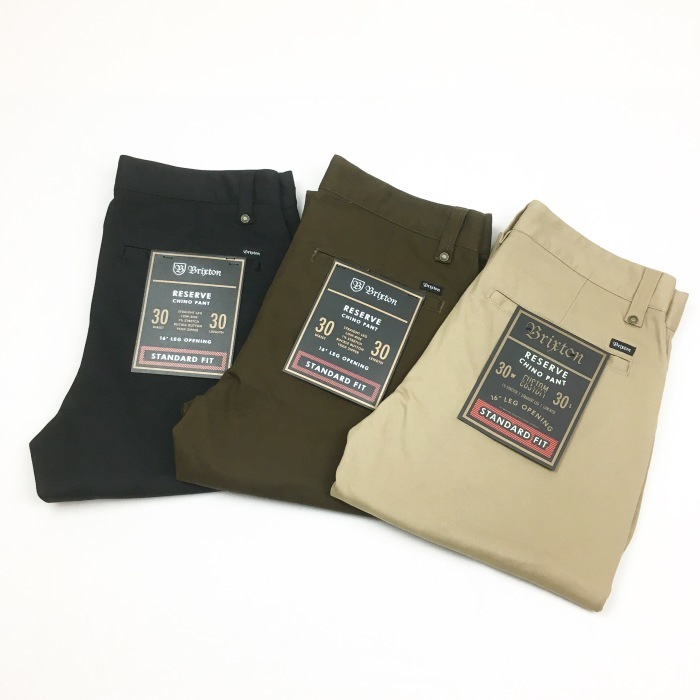 BRIXTON / RESERVE CHINO PANT Khaki, Brown, Black(ブリクストン チノパンツ)