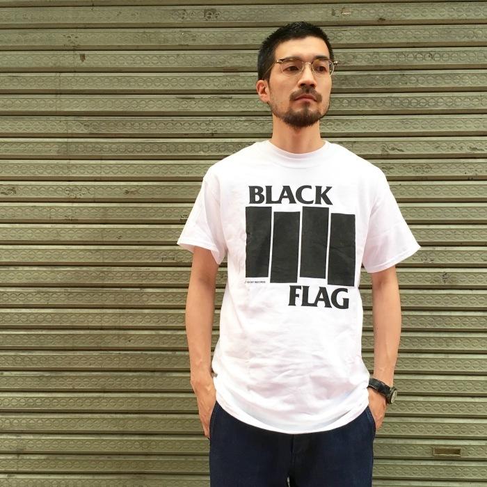 BLACK FLAG T-SHIRT BARS & LOGO  EVERYTHING WENT BLACK SIX PACK ブラックフラッグ Tシャツ