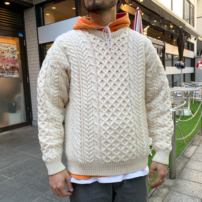 Aran Woollen Mills / Fisherman Sweater (アラン ニット セーター)
