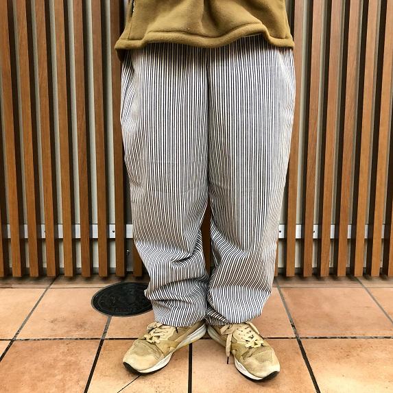 ERICK HUNTER / OVIEDO EASY PANTS (エリックハンター イージーパンツ ヒッコリーストライプ)