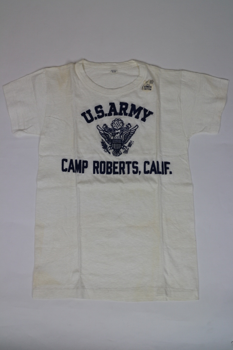 Vintage 40年代 US ARMY Flocked T-SHIRT(アーミー フロッキー Tシャツ)アメリカ直輸入