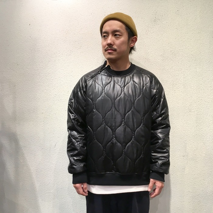 Audience / Gourd Quilt Raglan Sleeve Zip Crew-Neck Sweat オーディエンス キルティング アウター