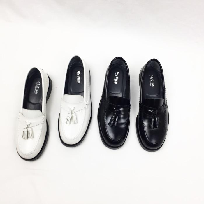 BLOHM / EDGE BASS (TED'S WHITE, TED'S BLACK)ブローム タッセルローファー ホワイト,ブラック