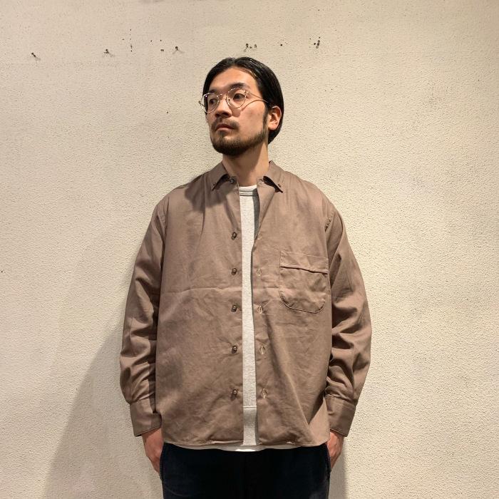 INDIVIDUALIZED SHIRTS / CAMP B.D L/S Twill Shirts(White Head Eagle別注)