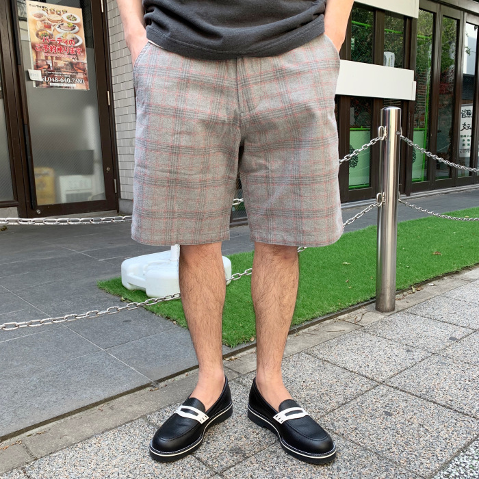 Universal Works / LOOSE SHORT - COTTON CHECK SUITING (ユニバーサルワークス ショーツ)