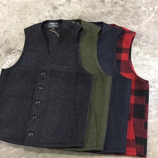 FILSON / - made in U.S.A MACKINAW WOOL VEST Charcoal, Forest Green, Navy, Red/Black Plaid (フィルソン マッキノー ベスト)