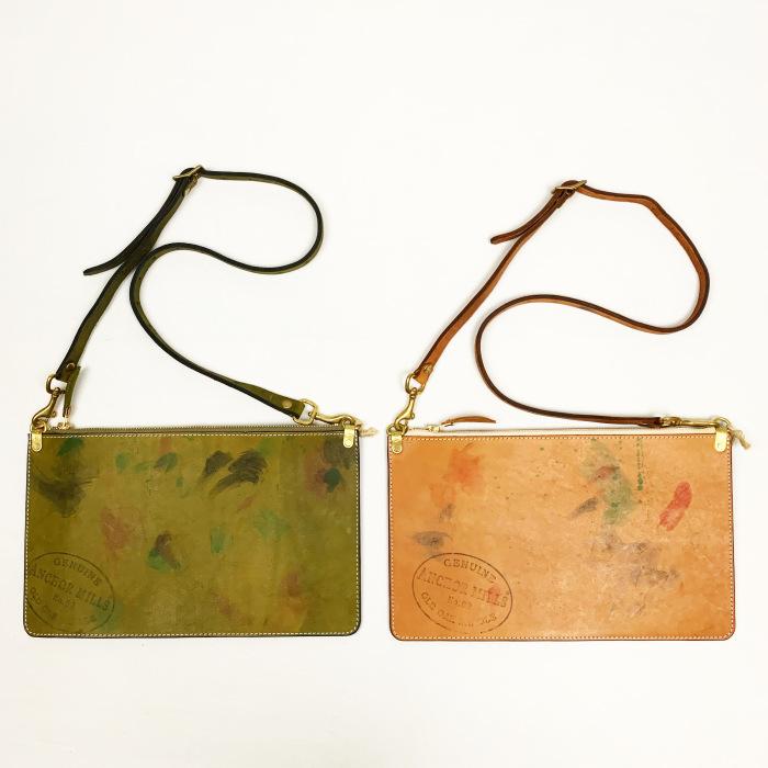 VASCO / PAINT LEATHER 2WAY ZIP MUSETTE BAG - Made in Japan (ヴァスコ ショルダーバッグ クラッチバッグ)