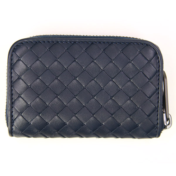 Bottega Veneta (Bottega Veneta) coin purse wallet mens Womens pennies put leather Dark Navy 114075 4013 V4651 LIGHT TOURMMLINE