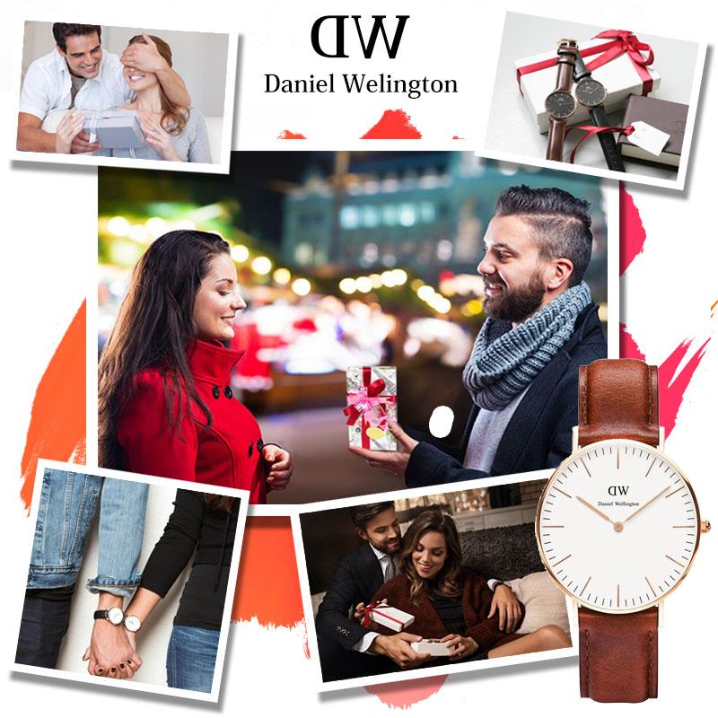 イニシャル名入れ 新品 ダニエルウェリントン Daniel Wellington 時計 メンズ 腕時計 40mm CLASSIC BLACK クラシック ブラック ゴールド/シルバー カジュアルにもフォールにも 保証 アナログ 革ベルト 正規品 新作