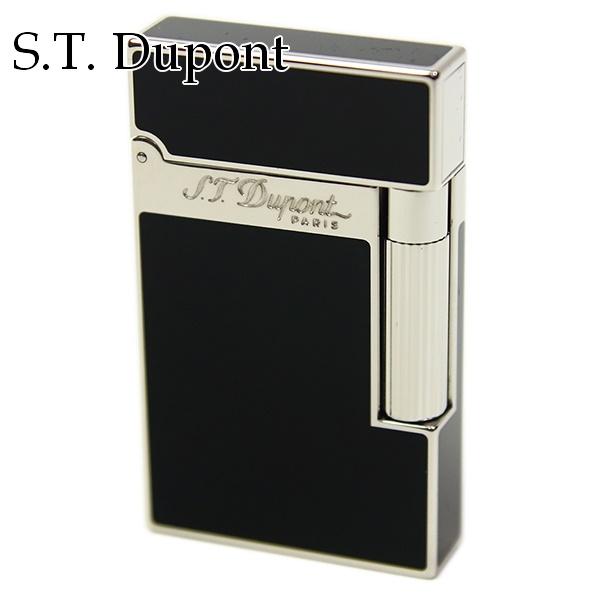 【即納】あす楽 エス・テ・デュポン エス・ティー・デュポン S.T.Dupont ガスライター ライター 喫煙具 ライン2 モンパルナス ブラック(黒)×シルバー 16296 パラディウム 高級 メンズ 正規品 通販 あす楽ブランド 新品 新作 2018年