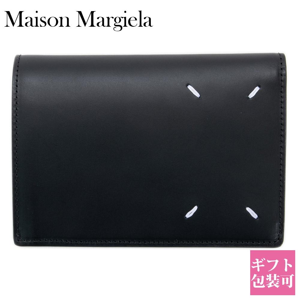 メゾンマルジェラ 財布 二つ折り財布 メンズ レディース メゾン マルジェラ Maison Margiela MM6 エムエム6 レザー ブラック 黒 BLACK S35UI0430 PS935 T8013【新品 新作 ブランド 2020年 正規品】