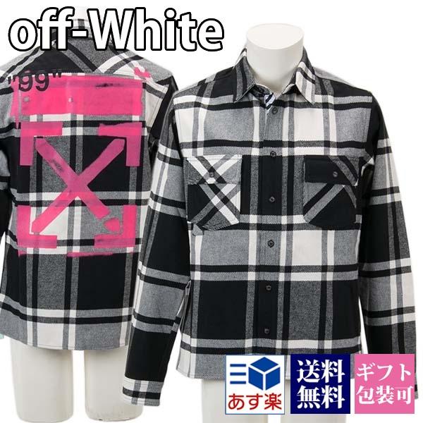 オフホワイト OFF-WHITE シャツ シャツジャケット チェック柄 メンズ 【OFF WHITE 大きいサイズ 男性 新品 正規品 VIRGIL ABLOH】 ギフト プレゼント