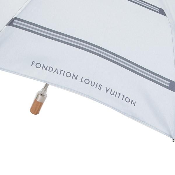 ルイヴィトン 傘 折り畳み傘 メンズ レディース レイングッズ ギフト プレゼント フォンダシオン ブックストア ルイヴィトン美術館 雨傘 雨具 限定 ホワイト グレー 正規品 セール プレゼント かわいいブランド 新品 新作 2019年