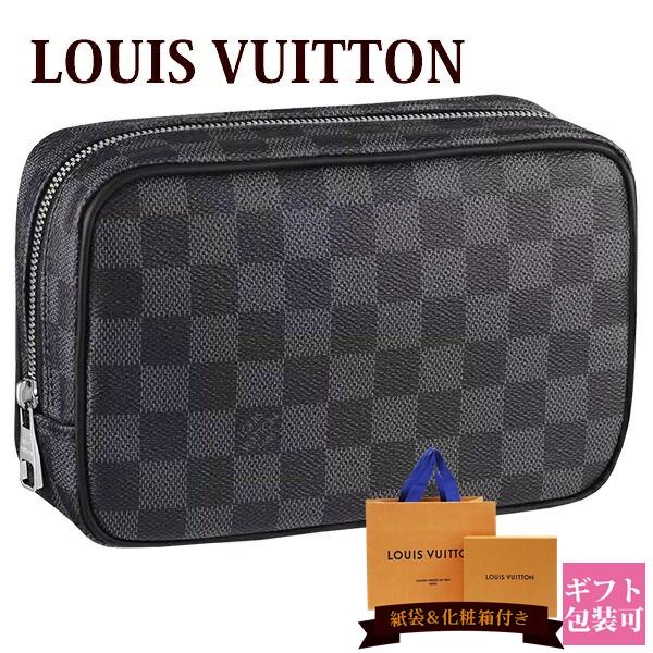 ルイヴィトン バッグ 鞄 かばん LOUIS VUITTON 新品 メンズ トラベルポーチ トゥルース・トワレ PM ダミエ・グラフィット N47522 ホワイトデー ギフト