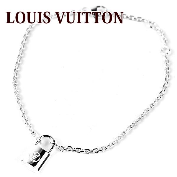 路易 · 威登路易 · 威登手鏈女裝兒童基金會手鏈銀和岩石它銀 Q95450