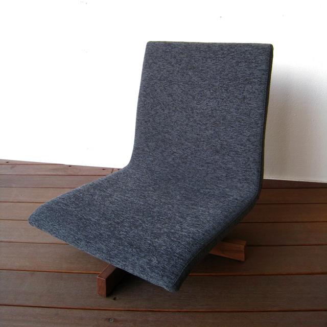 座椅子 回転座椅子 座いす ウォールナット 無垢 日本製 国産家具 おしゃれ モダン フロアチェア【送料無料】回転フロアチェア《受注生産品》