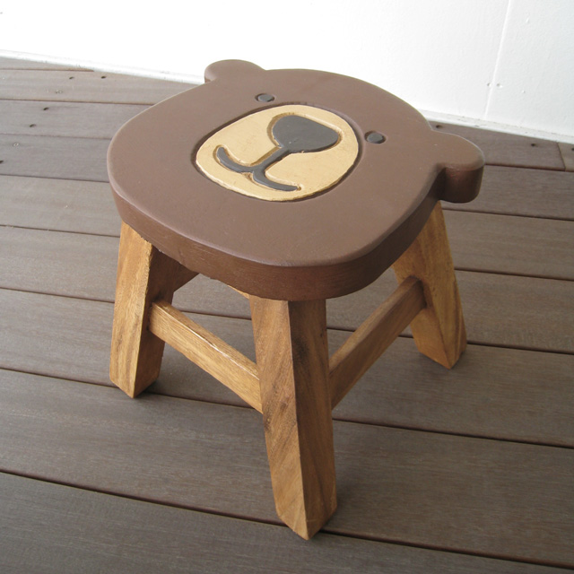 Phenomenal Present Round Stool Bear Shape That A Stool Kids Chair Wooden High Chair Rakuten Baby Chair Child Chair Bear Bear Bear Child Chair Child Chair Uwap Interior Chair Design Uwaporg