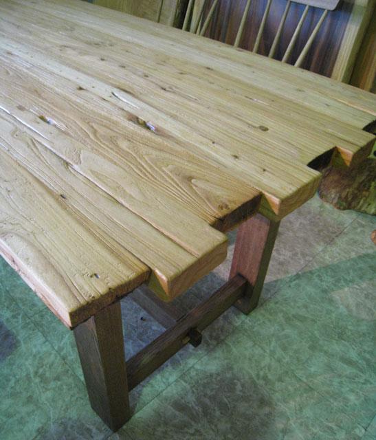 テーブル 無垢 天然木 ダイニングテーブル ナチュラル カフェ カフェ