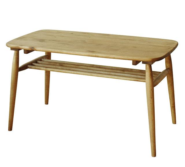 センターテーブル 木製リビングテーブル 木製テーブル センター ソファテーブル 木製 天然木 無垢 ナチュラル 収納棚 北欧 アンティーク IKEA おしゃれ かっこいい ミッドセンチュリー 幅100cm【送料無料】センターテーブル ミドル 棚付 100cm
