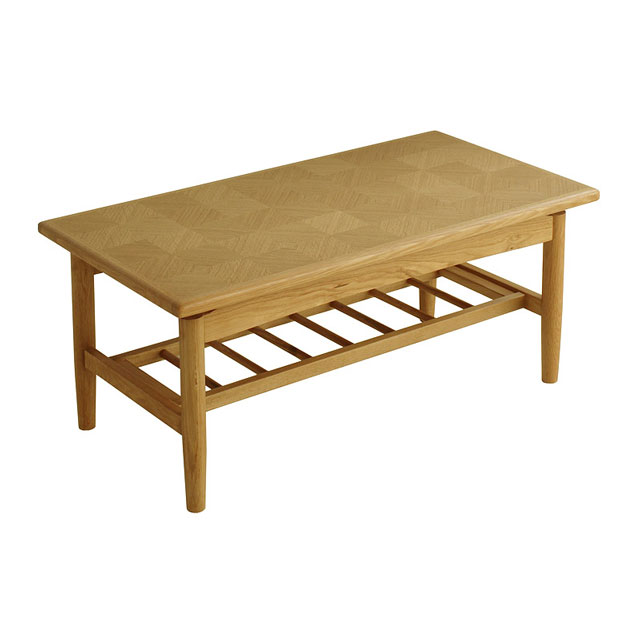 ... Center table living room table teeburu_senntaa wooden natural wood oak  wood storage shelves storage with seat ...