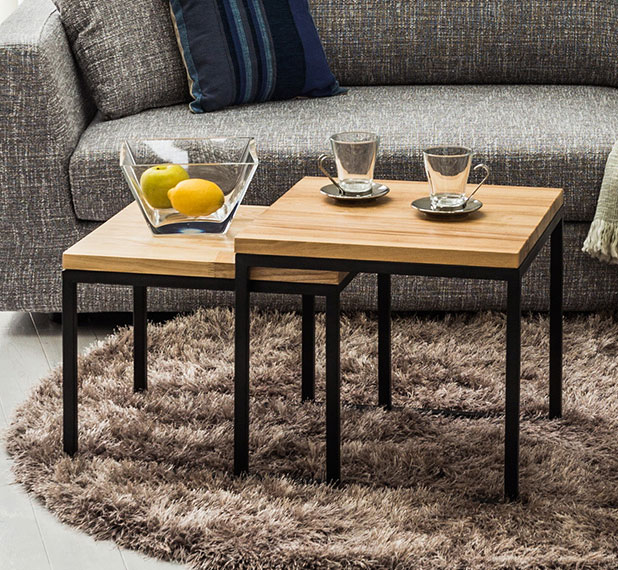 Center Table Living Room Coffee Cafe Tables Side Fashion Style Solid Wood Natural Whats Up Antique Steel Set Mid Century
