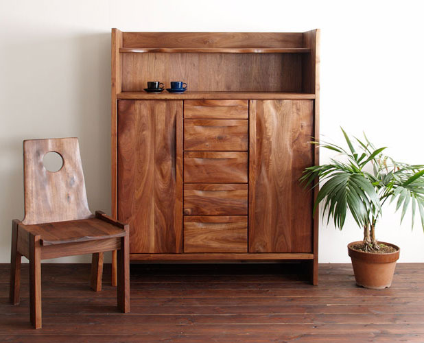 Cabinet Walnut Solid Sideboard Living Board Kitchen Door Storage Furniture Fashionable Luxury Whats Up Urban Wood Natural