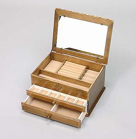 ジュエリケース ジュエリーボックス おしゃれ 木製 日本製 アンティーク アクセサリーケース カントリー アクセサリー入れ アクセサリーボックス ナラ材 木製小物 プレゼント 母の日 贈り物 【送料無料】Alice ジュエリーケース