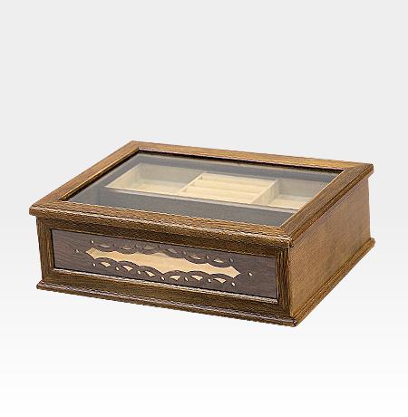 ジュエリケース ジュエリーボックス おしゃれ 木製 日本製 アンティーク カントリー アクセサリー入れ アクセサリーボックス ガラスケース 木製小物 プレゼント 母の日 贈り物 【送料無料】Alice シースルージュエリーケース
