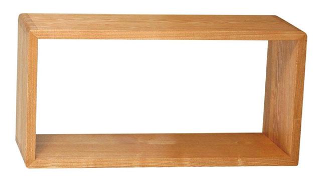 間仕切り ブックシェルフ 本立て 木製 タモ無垢 ジョイント家具 テレビ台 テレビボード フリーラック オーディオラック テレビボード ローボード オープンシェルフ CDDVDラック 万能ラック 収納ボックス 天然木【送料無料】80ボックス・大(ライト/ダーク)