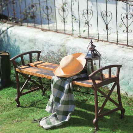 ★古木を再利用し、おしゃれなガーデンベンチにしました。アンティーク調でとても素敵★ ベンチ 縁台 イス アンティーク 古木 ガーデンファニチャー おしゃれ ガーデンベンチ 天然木 木製ベンチ アイアン レトロ カフェ【送料無料】Old Woodベンチ