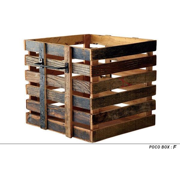 木製ボックス 木の箱 無垢 引き出しボックス 木製 古材 アンティーク ヴィンテージ ビンテージ かっこいい おしゃれ【送料無料】POCO BOX(ポコボックス)Fタイプ