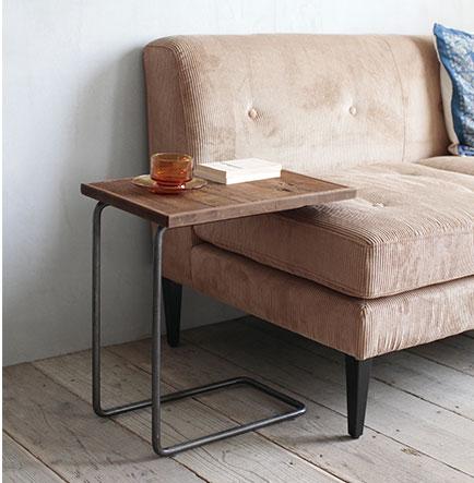 ソファサイドテーブル サイドテーブル おしゃれ ベッドサイドテーブル 古材 木製 北欧 アイアン ナイトテーブル 木製コーヒーテーブル カフェテーブル 木製 おしゃれ ナチュラル 花台 台 【送料無料】CHAYサイドテーブル