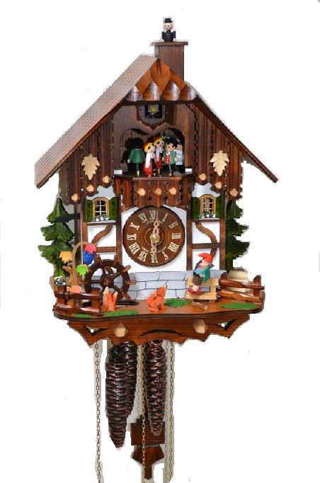 カッコー時計 鳩時計 仕掛け時計 ドイツ製 掛時計 からくり時計 ウォールクロック シュナイダー社 アンティークおしゃれ レトロ 壁掛 鳩時計 インテリア 振子時計 ぜんまい 1日タイプ【送料無料】《シュナイダー社正規品》ドイツ製 からくり時計(1日タイプ)
