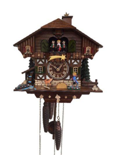 """だれもが知っているフランスの小説家サン=テグジュペリの""""星の王子さま""""をモチーフにした鳩時計 鳩時計 カッコー時計 掛時計 振り子時計 ウォールクロック 爆安プライス 爆安プライス ドイツ製 シュナイダー製 星の王子さま アンティーク調 レトロ クロック 御祝 壁掛 お祝い お店 時計 1日巻タイプ 店舗 送料無料 ドイツ おしゃれ 鳩"""