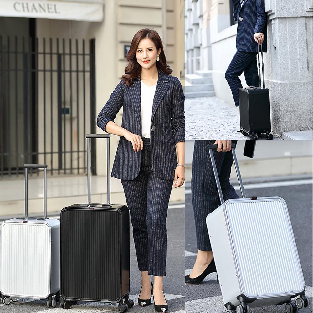 ハイエンド スーツケース L ビジネス 機内持ち込み TSAロック アルミ合金 静音 超軽量 出張 66×38.5×22cm 容量:約68リットル 宿泊:3~7泊 アルミ スーツケース