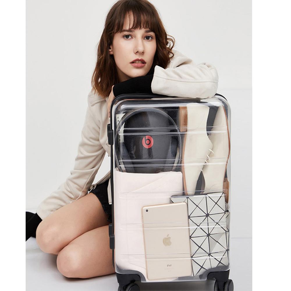 限定で発売される スーツケー 透明のスーツケースを製作 tsa ロック 超軽量 キャリーケース TSAロック 機内持込 キャリーバッグ 新幹線 旅行出張 超軽量