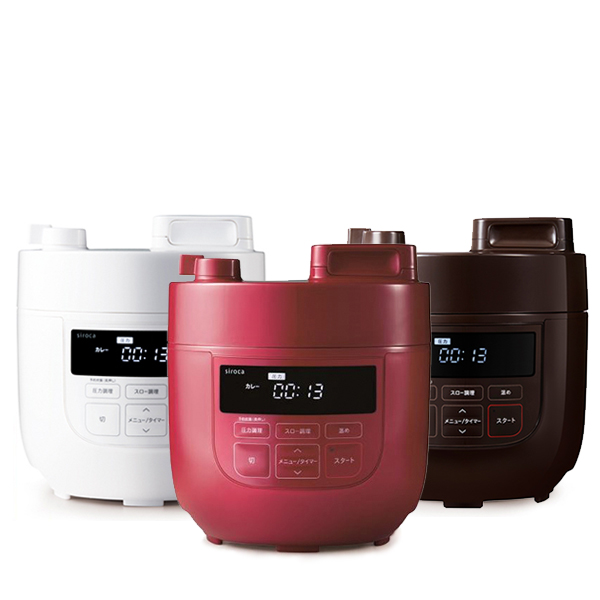 材料を入れてボタンを押すだけ かんたん時短 全商品オープニング価格 ほったらかしで 電気圧力鍋 なら失敗なく おいしい料理がパッと作れます 新入荷 流行 4時間限定クーポン利用で10%OFF11月25日20時~ 正規品 SP-D131 siroca シロカ