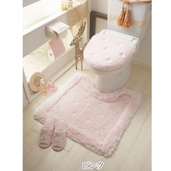 【セット商品】プロローグトイレ2点セット(マット&特殊フタカバー)/ピンク