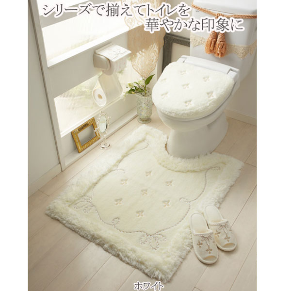 【セット商品】プロローグトイレ2点セット(マット&特殊フタカバー)/ホワイト