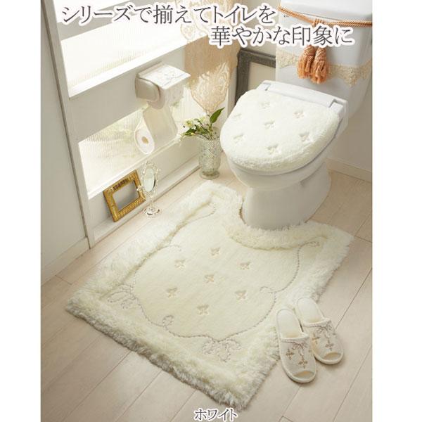 【クーポン利用で10%OFF】 【セット商品】プロローグトイレ2点セット(マット&洗浄被りフタカバー)/ホワイト