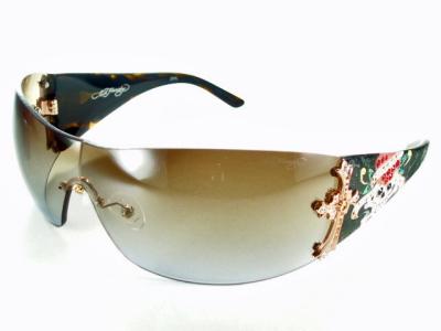 Ed Hardy エドハーディー サングラス EHA-CROSS-OLIVE BRN クロス オリーブブラウン【送料無料】レディース メンズ UVカット ブランド モードドライブ オシャレ 飛沫 防止